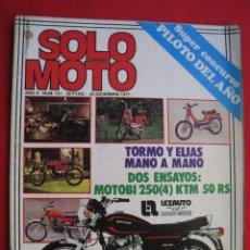 Coches y Motocicletas: REVISTA SOLO MOTO - Nº 121 - 22 DICIEMBRE 1977.. Lote 155994202