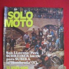Coches y Motocicletas: REVISTA SOLO MOTO - Nº 184 - 15 MARZO 1979 - CON POSTER DE ATIENZAR.. Lote 156003890