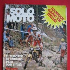 Coches y Motocicletas: REVISTA SOLO MOTO - Nº 287 - 28 MAYO 1981.. Lote 156336918