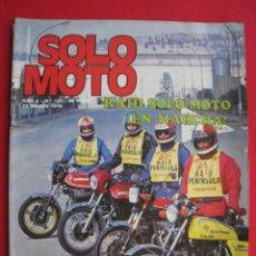 Coches y Motocicletas: REVISTA SOLO MOTO - Nº 133 - 23 MARZO 1978 - CON POSTER DE BERNIE SCHREIBER ( BULTACO ).. Lote 156354290