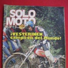Coches y Motocicletas: REVISTA SOLO MOTO - Nº 55 - 17 SEPTIEMBRE 1976.. Lote 156358206