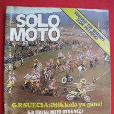 Coches y Motocicletas: REVISTA SOLO MOTO - Nº 191 - 17 MAYO 1979.. Lote 156362618