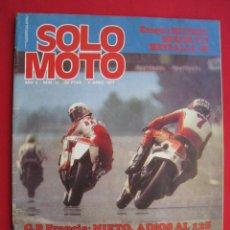 Coches y Motocicletas: REVISTA SOLO MOTO - Nº 92 - 3 JUNIO 1977.. Lote 156639082