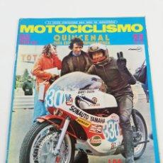 Coches y Motocicletas: REVISTA MOTOCICLISMO PRIMERA QUINCENA AGOSTO 1972 POSTER BULTACO 360 PUCH JUNIOR 75 VER SUMARIO.. Lote 156975304