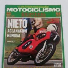 Coches y Motocicletas: REVISTA MOTOCICLISMO SEGUNDA 2 QUINCENA JULIO 1972 24 HORAS MONTJUICH POSTER BMW VER SUMARIO. Lote 156982194