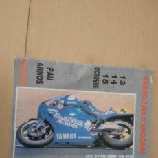 Coches y Motocicletas: PROGRAMA CARRERAS PAU ARNOS 1989. Lote 157015354
