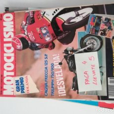 Coches y Motocicletas: REVISTA MOTOCICLISMO 1167 * CAGIVA FRECCIA 125 + TRIUMPH 750 / 900 * 57. Lote 157419658