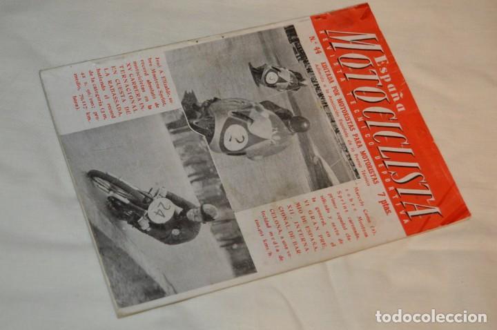 VINTAGE Y ANTIGUA - ESPAÑA MOTOCICLISTA - Nº 44 - JUNIO DE 1955 - NUMEROSA PUBLICIDAD - ENVÍO 24H (Coches y Motocicletas - Revistas de Motos y Motocicletas)