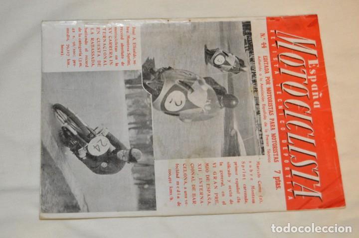 Coches y Motocicletas: VINTAGE Y ANTIGUA - ESPAÑA MOTOCICLISTA - Nº 44 - JUNIO DE 1955 - NUMEROSA PUBLICIDAD - ENVÍO 24H - Foto 2 - 157458458