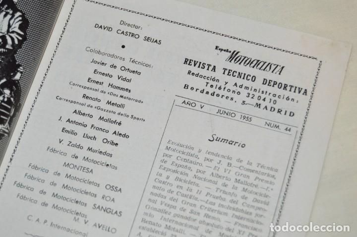Coches y Motocicletas: VINTAGE Y ANTIGUA - ESPAÑA MOTOCICLISTA - Nº 44 - JUNIO DE 1955 - NUMEROSA PUBLICIDAD - ENVÍO 24H - Foto 7 - 157458458