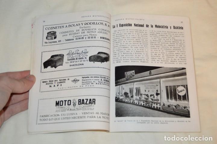 Coches y Motocicletas: VINTAGE Y ANTIGUA - ESPAÑA MOTOCICLISTA - Nº 44 - JUNIO DE 1955 - NUMEROSA PUBLICIDAD - ENVÍO 24H - Foto 10 - 157458458
