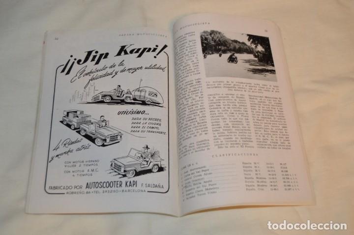 Coches y Motocicletas: VINTAGE Y ANTIGUA - ESPAÑA MOTOCICLISTA - Nº 44 - JUNIO DE 1955 - NUMEROSA PUBLICIDAD - ENVÍO 24H - Foto 12 - 157458458