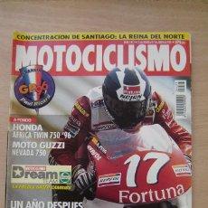 Coches y Motocicletas: REVISTA MOTOCICLISMO Nº 1477 - HONDA AFRICA TWIN 750/96, MOTO GUZZI NEVADA 750 , ETC. Lote 157749714