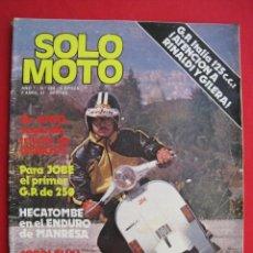 Voitures et Motocyclettes: REVISTA SOLO MOTO - Nº 280 - 2 ABRIL 1981.. Lote 158160686