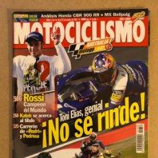 Coches y Motocicletas: MOTOCICLISMO N° 1756 (OCTUBRE 2001). APRILIA RSV 1000 VS TRIUMPH DAYTONA 900 VS YAMAHA R1, ROSSI CAM. Lote 158617784