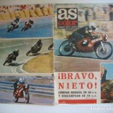 Coches y Motocicletas: REVISTA AS COLOR. NUMERO 19. SEPTIEMBRE 1971- BRAVO NIETO..ANGEL NIETO,,CAMPEON...... Lote 158808650