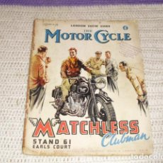 Coches y Motocicletas: THE MOTOR CYCLE - NOVIEMBRE DE 1948 -. Lote 158962390