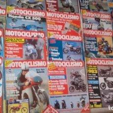 Coches y Motocicletas: LOTE 30 REVISTAS MOTOCICLISMO AÑO 1982.. Lote 158968750