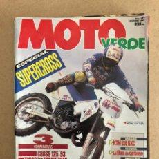 Coches y Motocicletas: MOTO VERDE N° 173 (1992). HONDA (CRM 75/125, NX 125, DOMINATOR, TRANSALP, XRV 750 AFRICA TWIN, BETA. Lote 158978308