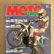Coches y Motocicletas: MOTO VERDE N° 177 (1993). HONDA XRV 750 AFRICA TWIN, SUZUKI DR 350 TM 80, FANTIC KEY-ROO,... Lote 158982712