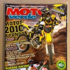 Coches y Motocicletas: MOTO VERDE N° 377 (2009). COMPARATIVA 250 4T (HUSKY-KAWA-KTM-SUZUKI-YAMAHA), BETA ENDURI RR 400/450/. Lote 159145366