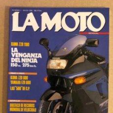 Coches y Motocicletas: LA MOTO N° 1 (1990). KAWASAKI ZZR 1100, KAWA ZZR 600 VS YAMAHA FZR 600, BULTACO, ÁNGEL NIETO,G.P 500. Lote 159149266