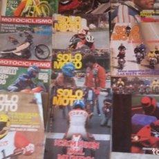 Coches y Motocicletas: LOTE 17 REVISTAN ENTRE MOTOCICLISMO Y SOLO MOTO AÑOS 70. CATALOGO HONDA'92, CALENDARIO GRAND PRIX'91. Lote 159193046