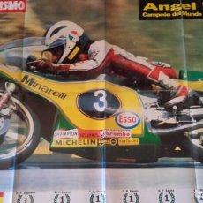 Voitures et Motocyclettes: POSTER ANGEL NIETO CAMPEON DEL MUNDO DE 125 CC. 1981. MOTOCICLISMO.. Lote 159194382