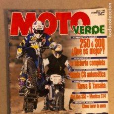 Coches y Motocicletas: MOTO VERDE N° 199 (1995). CROSS 250 (HONDA CR AUTOMÁTICA), CROSS 80 (KAWA VS HONDA), TRIAL (GAS GAS. Lote 159295374