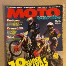 Coches y Motocicletas: MOTO VERDE N° 213 (1996). ENDURO (HONDA CRE 125/250, GAS GAS 125,..) CROSS 125 (HONDA, KAWA, SUZUKI,. Lote 159296689