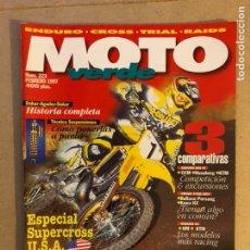Coches y Motocicletas: MOTO VERDE N° 223 (1997). ENDURO 600 4T (CCM VS HUSABERG VS KTM), CROSS (BULTACO PURSANG, KAWA KX),. Lote 159298390