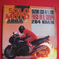 Carros e motociclos: REVISTA SOLO MOTO ACTUAL - Nº 875 - 10 MARZO 1993.. Lote 159408878