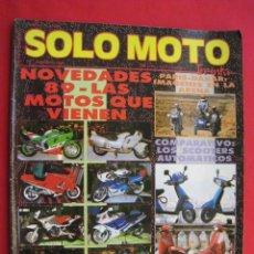 Coches y Motocicletas: REVISTA SOLO MOTO - Nº 72 - FEBRERO 1989.. Lote 159585534