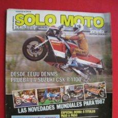 Carros e motociclos: REVISTA SOLO MOTO - Nº 45 - 15 DE OCTUBRE AL 15 DE NOVIEMBRE DE 1986.. Lote 159590262