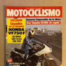 Carros e motociclos: MOTOCICLISMO N° 792 (1983). HONDA VF750F, CB 1110 R, 650 TURBO, CBX 550, GARELLI 125 DE ÁNGEL NIETO. Lote 160195134