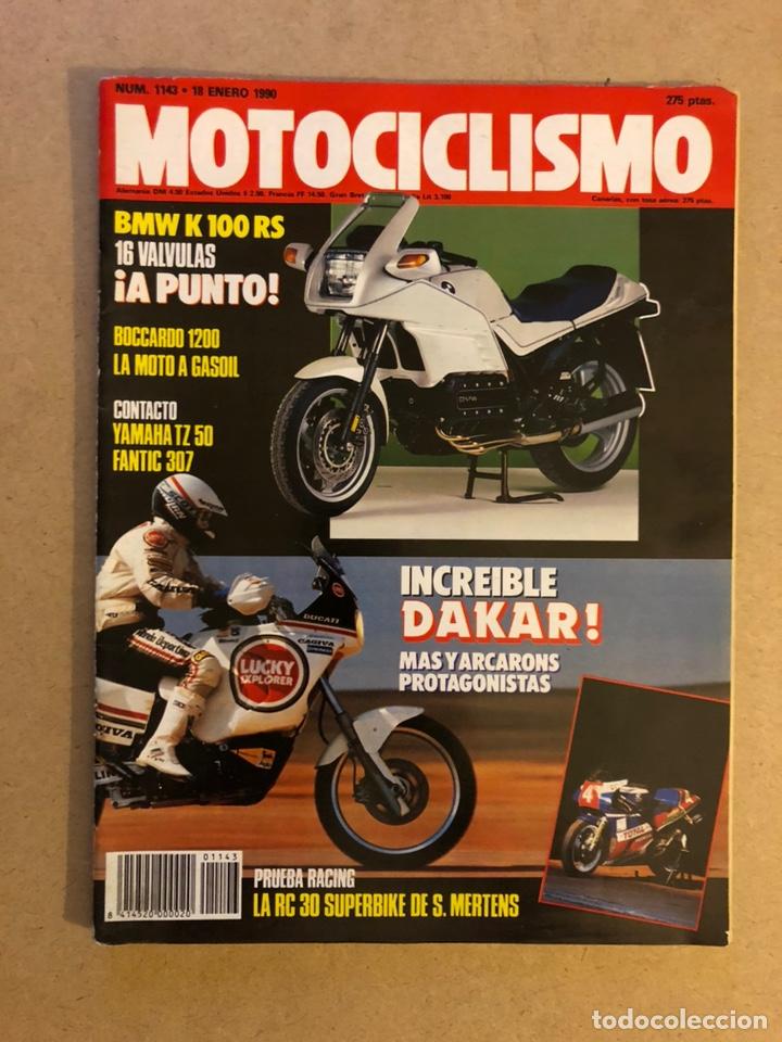 MOTOCICLISMO N° 1143 (1990). BMW K 100 RS, , BOCCARDO 1200, YAMAHA TZ 50, FANTIC 307, PARIS DAKAR,.. (Coches y Motocicletas - Revistas de Motos y Motocicletas)