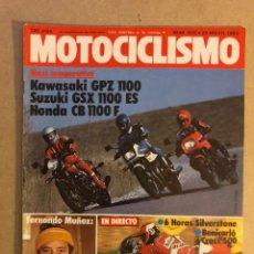 Coches y Motocicletas: MOTOCICLISMO N° 802 (1983). KAWASAKI GPZ 1100, SUZUYGSX 1100 ES, HONDA CB 1100 F,.... Lote 160196693