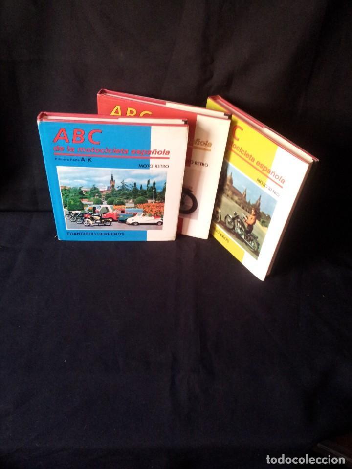 FRANCISCO HERREROS - ABC DE LA MOTOCICLETA ESPAÑOLA - 3 TOMOS - MOTO RETRO 1992 (Coches y Motocicletas - Revistas de Motos y Motocicletas)