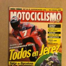 Coches y Motocicletas: MOTOCICLISMO N° 1721 (2001). APRILIA RST, YAMAHA FJR 1300, CAGIVA V-RAPTOR 1000, DUCATI MONSTER 900. Lote 160312797