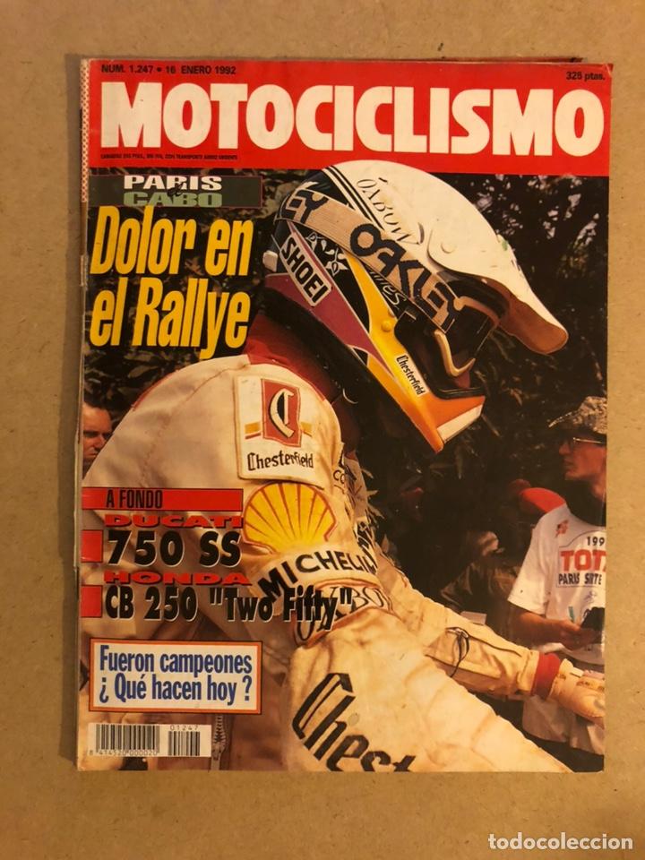 MOTOCICLISMO N° 1247 (1992). DUCATI 750 SS, HONDA CB 250, PARIS - EL CABO,.. (Coches y Motocicletas - Revistas de Motos y Motocicletas)