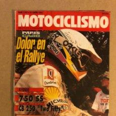 Coches y Motocicletas: MOTOCICLISMO N° 1247 (1992). DUCATI 750 SS, HONDA CB 250, PARIS - EL CABO,... Lote 160314494