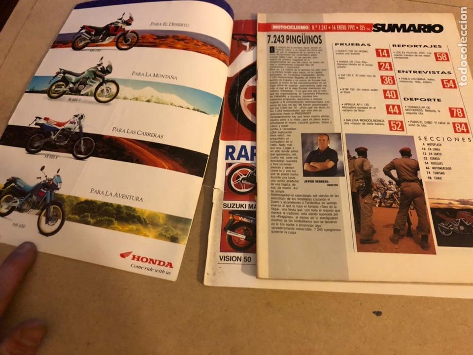 Coches y Motocicletas: MOTOCICLISMO N° 1247 (1992). DUCATI 750 SS, HONDA CB 250, PARIS - EL CABO,.. - Foto 2 - 160314494