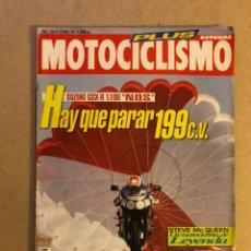 Coches y Motocicletas: MOTOCICLISMO N° 1284 (1992). SUZUKI GSXR 1100, STEVE MC QUEEN, BRITTEN V-2 1100,.... Lote 160314572