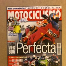 Carros e motociclos: MOTOCICLISMO N° 1554 (1997). HOMDA VFR 800I, HONDA CBR 900 RR, KAWA ZX-9R, SUZUKI 750I,... Lote 160314689