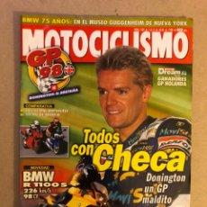 Coches y Motocicletas: MOTOCICLISMO N° 1585 (1998). CARLOS CHECA, BMW R 1100 S, DUCATI 916 BIPOSTO, SUZUKI TL 1000 R,.... Lote 160430594