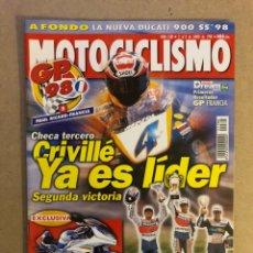 Coches y Motocicletas: MOTOCICLISMO N° 1580 (1998). CRIVILLÉ G.P. FRANCIA, DUCATI 900 SS, NUEVAS SUZUKI,.... Lote 160430642