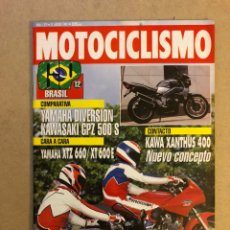 Coches y Motocicletas: MOTOCICLISMO N° 1279 (1992). YAMAHA XTZ 660 VS XT 600 E, YAMAHA DIVERSION VS KAWA GPZ 500 S, G.P. BR. Lote 160430869