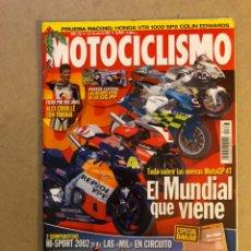 Coches y Motocicletas: MOTOCICLISMO N° 1767 (2002). POSTER CRIVILLÉ, DUCATI 998, HONDA CBR 900 RR, KAWA ZX-9R,.... Lote 160431178
