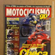 Coches y Motocicletas: MOTOCICLISMO N° 1676 (2000). CARLO CHECA, BMW F650 GS VS HONDA TRANSALP 650, TRIUMPH TT600, YAMAHA Y. Lote 160432774