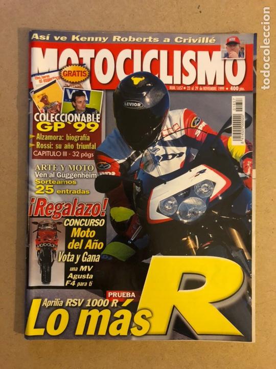 MOTOCICLISMO N° 1657 (1999). APRILIA RSV 1000 R, BIOGRAFÍA: ALZAMORA, ROSSI, CRIVILLÉ,... (Coches y Motocicletas - Revistas de Motos y Motocicletas)